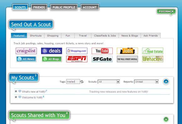 serviço de notificação web