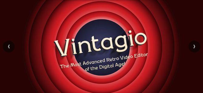 aplicativo de vídeo Vintagio