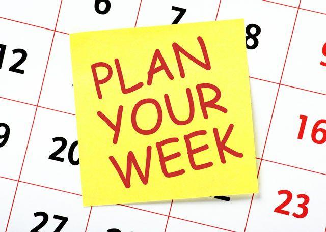 Planejar sua semana