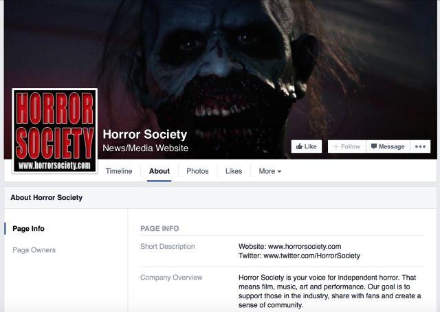 Sociedade Horror Facebook