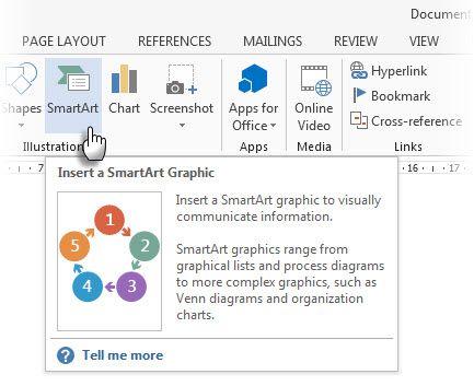 Microsoft Word dica de ferramenta
