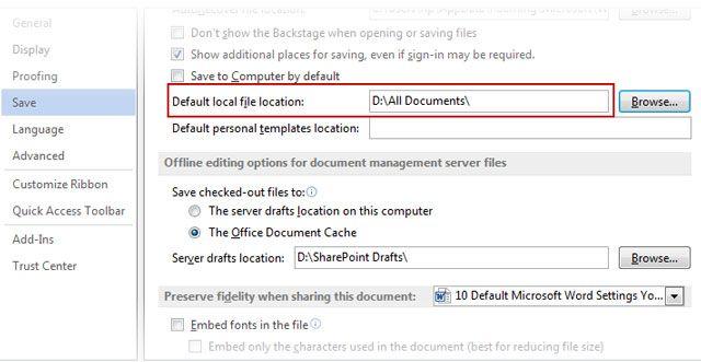 Microsoft Word - Arquivo Salvar Localização