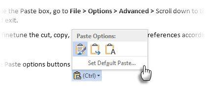 Microsoft Word - Opção Paste