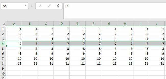 repetir comando no Excel