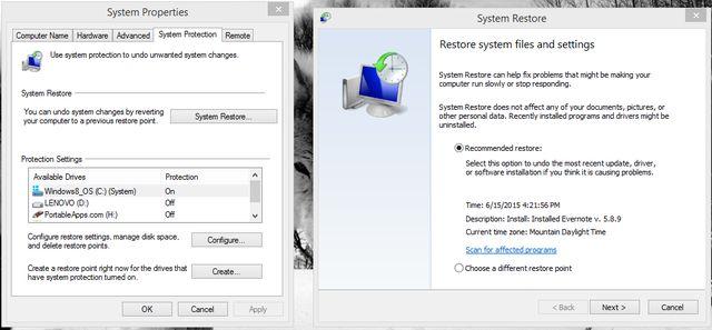 sistema 4.1 restaurar