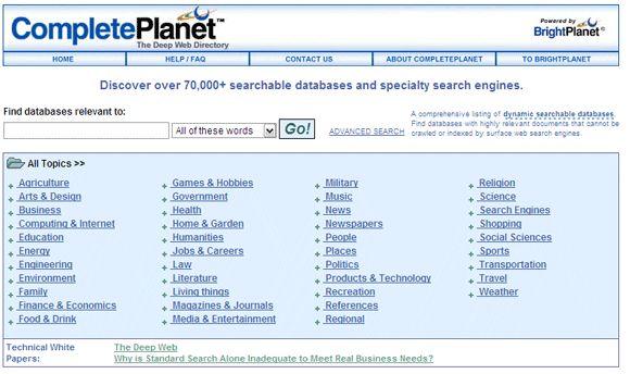 pesquisa na web invisível
