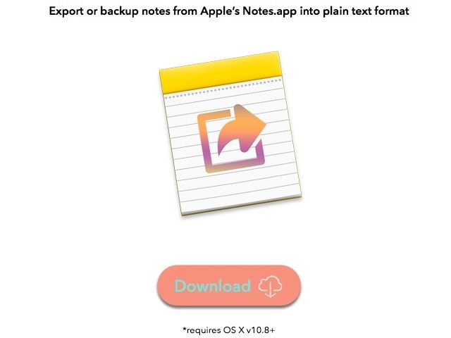 notas-exportador app