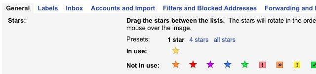 Gmail estrelas