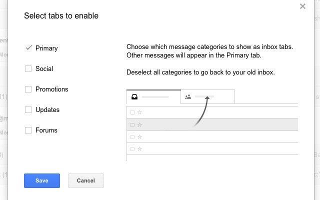 gmail-configure-caixa de entrada