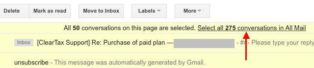 gmail-seleção com todas as conversas