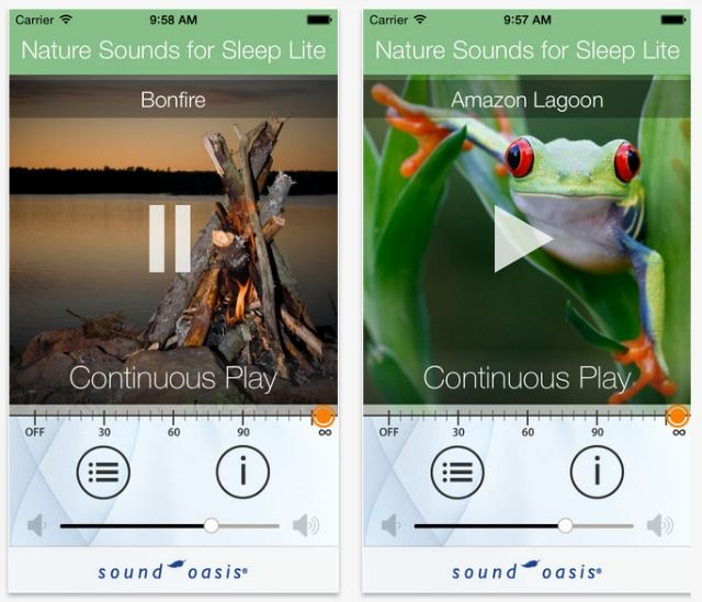 sons da natureza para captura de tela sono