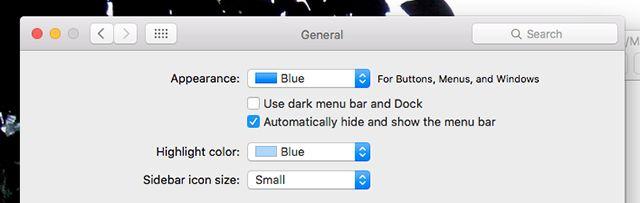 hide-menu do bar-mac