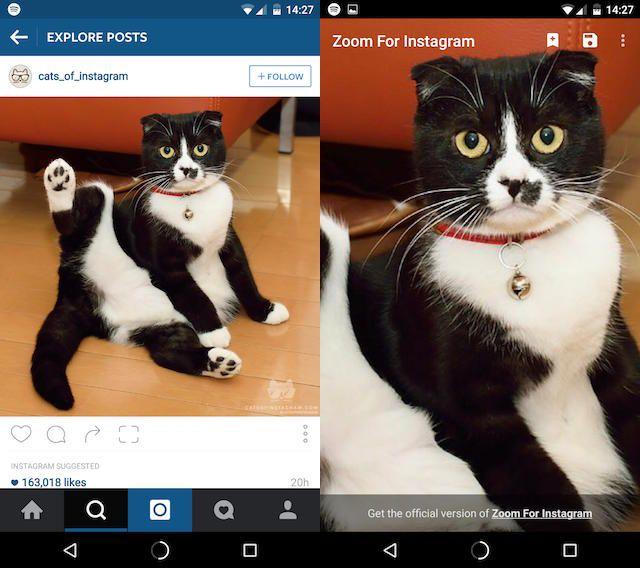 zoom para instagram