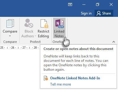 Microsoft OneNote - Linked Notes
