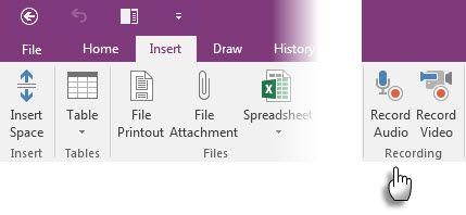 Microsoft OneNote - Notas de áudio