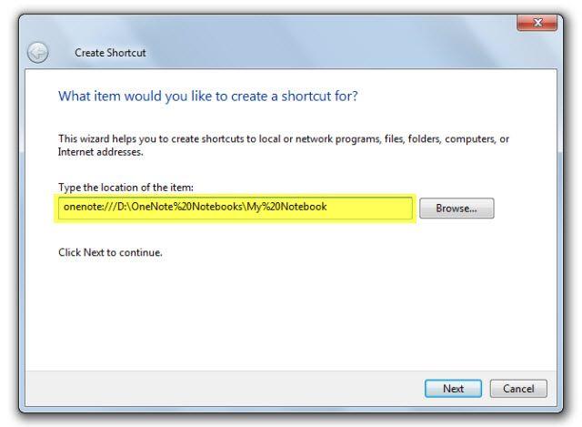 Microsoft OneNote - Desktop Shortcut