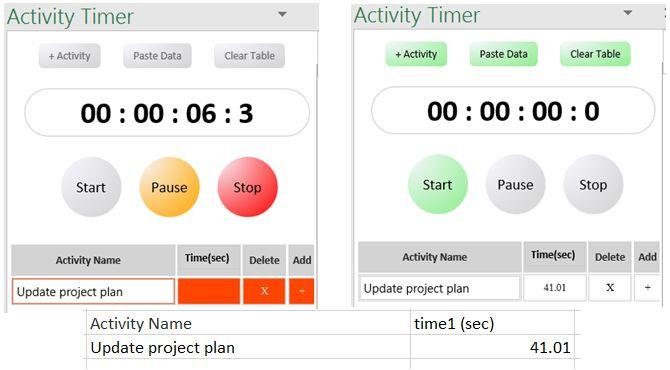 Excel Add-In Atividade Temporizador