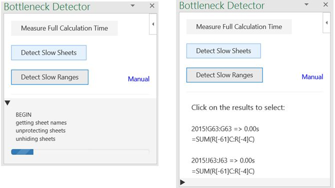 Excel Add-in Bottlenec Detector