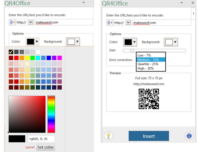 Excel Add-in QR4Office