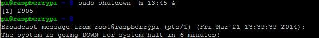 MUO-Raspberry Pi-comandos de desligamento