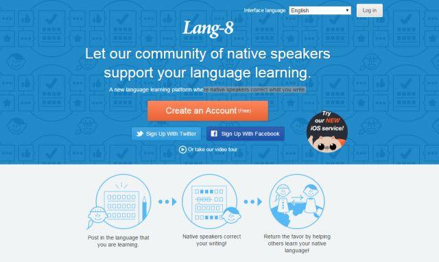 Site on-line Aprendizagem - Lang-8