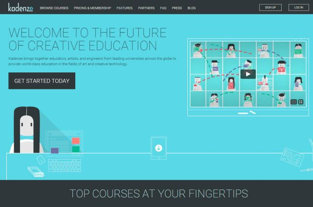 Site on-line Aprendizagem - Kadenze