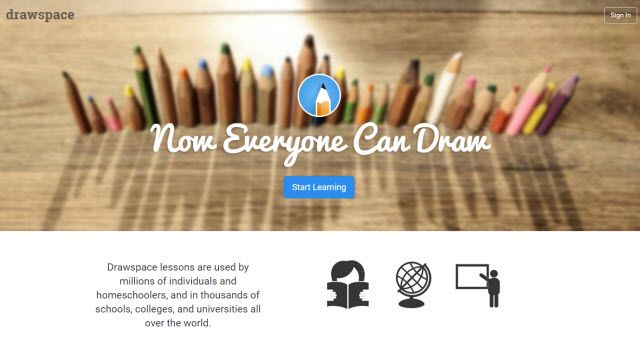 Site de Aprendizagem Online - Drawspace