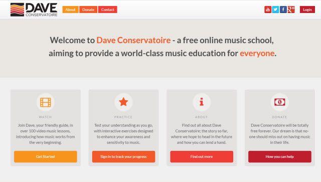 Site de Aprendizagem Online - Dave Conservatoire