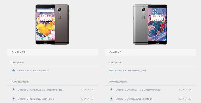 roms imagens OnePlus