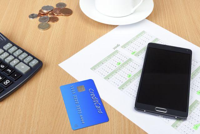 de cartão de crédito-pagamento-calendário