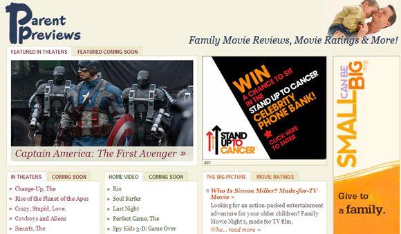 filmes para famílias