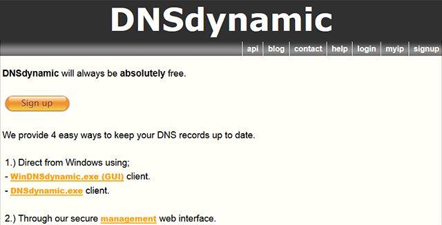 -Free-dynamic-dns dnsdynamic