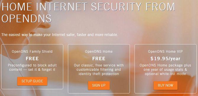 protetor da família OpenDNS