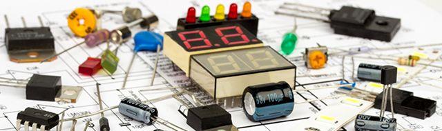 diferentes tipos de componentes eletrônicos