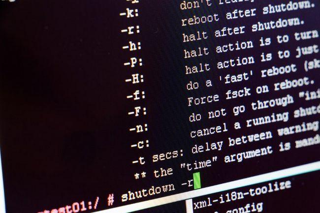 linux desligamento do terminal comandos de tela