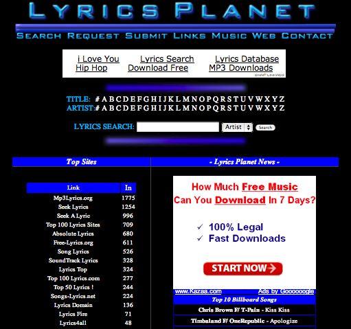 LyricsPlanet
