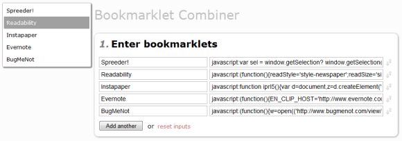 bookmarklets impulsionar a navegação na Internet