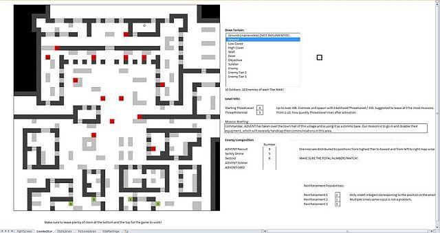 Jogo EXLCOM Microsoft Excel XCOM