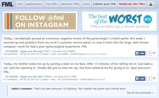 melhores-sites de fóruns-subreddits-para-verdadeiras-história-fmylife