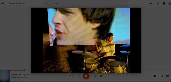 Google Play Music youtube vídeo