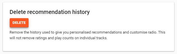 Google Play Music eliminar as recomendações