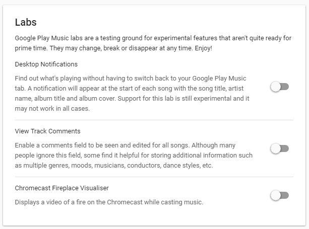 Google Labs música do jogo