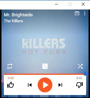 Google Play Music mini player instalada