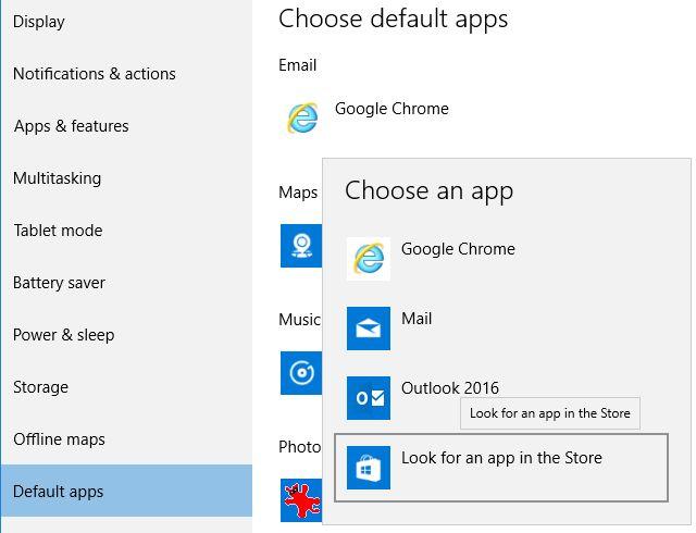 Windows 10 aplicativos padrão