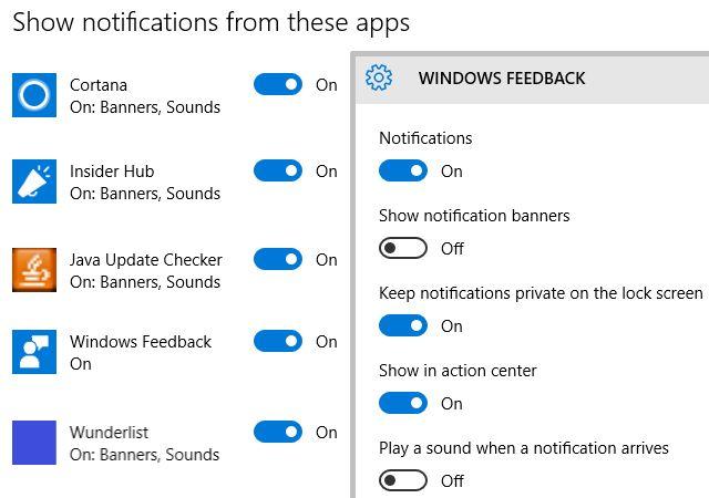 Windows 10 Notificações Configurações