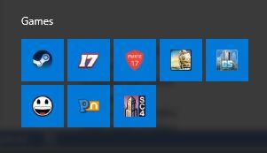 janelas iniciar jogos do menu