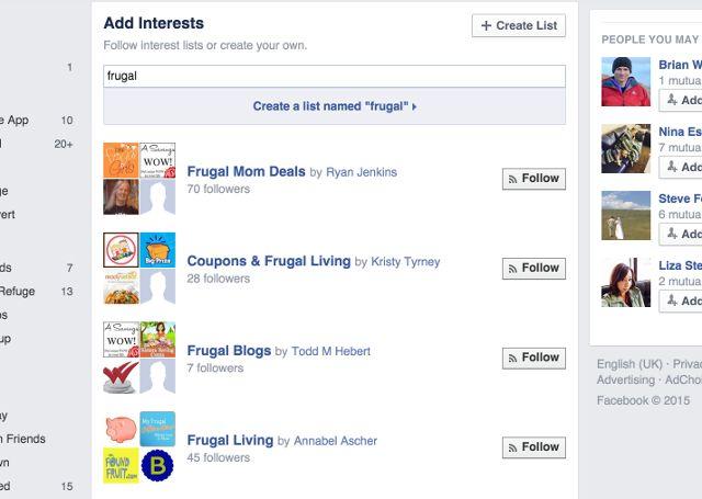 facebook-frugais-lists