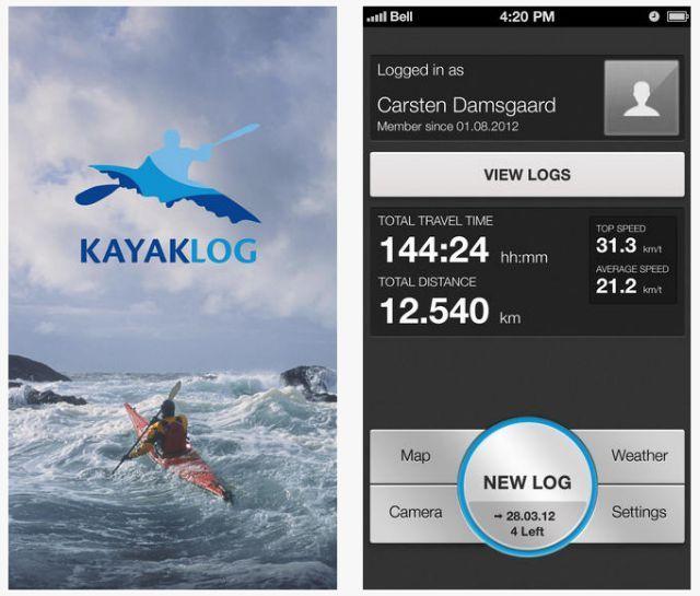 kayaklog aplicativo