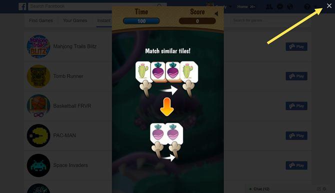 facebook jogos instantâneos web perto