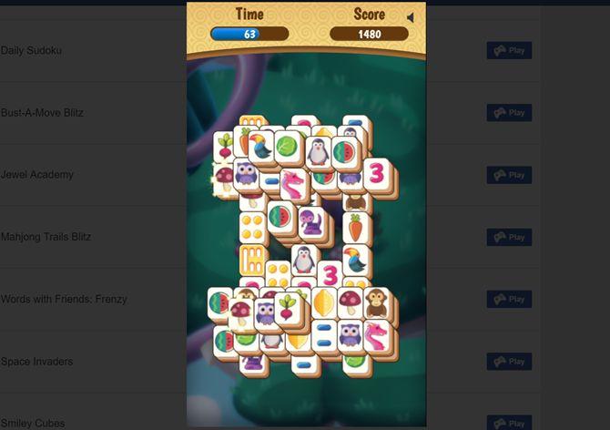 trilhas mahjong Blitz facebook web